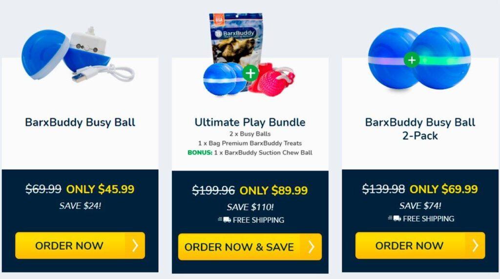 BarxBuddy Busy Ball cost