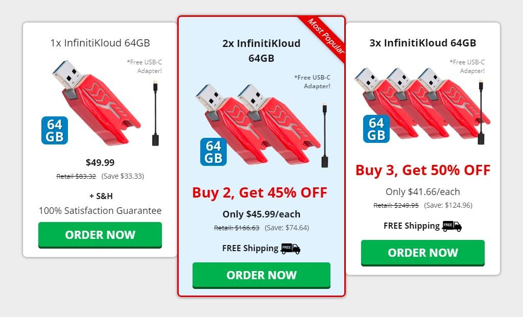 InfinitiKloud Pricing