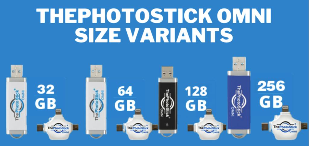 ThePhotoStick OMNI Sizes
