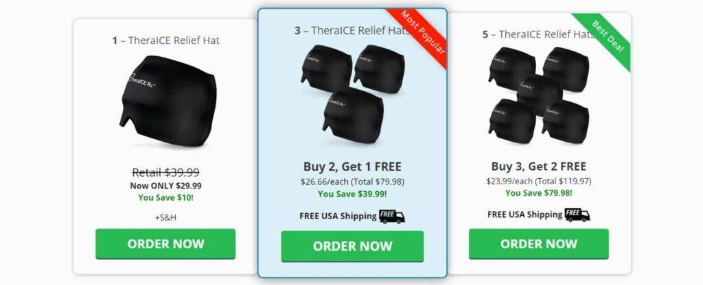 TheraICE Rx Headache Relief Hat Pricing