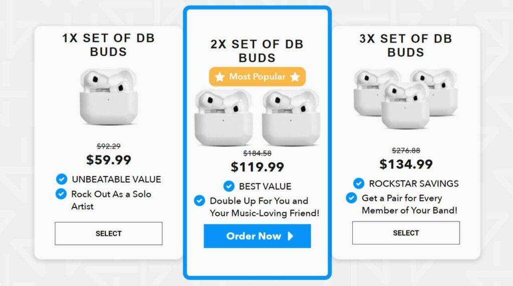 DB Buds Cost